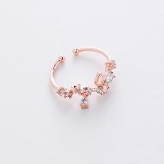 Fashion Colorful Gemstone Rings Diamond Adjustable Rings For Women RI20Y0104-20