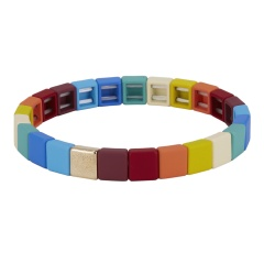 Fashion Colorful Beads Elastic Bracelets Jewelry Wholesale Multicolor