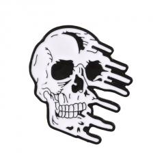 Alloy Multi Skull Series Rose Cowboy Badge Pin Halloween Brooch A