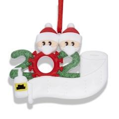 NEW Xmas Christmas Tree Hanging Pendant Family Ornament Decor 2 people