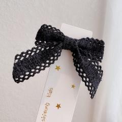 Ins Bow Hairpin All-match Hair Clip Hair Accessories Headwear Black