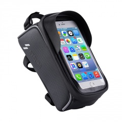 Bike Water-Repellent Touch Screen Upper Tube Beam Bag Mobile Phone Bag Riding Equipment Accessories Black