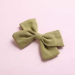 Simple Bow Hairpin Hairclip Multicolor Headwear Grass Green