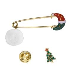 2 Pcs/Set  New Christmas Serices Brooch Set Jewelry Wholesale E