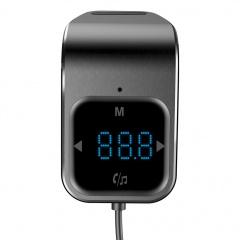 Silver Car Bluetooth Mp3 Player Car Fm Transmitter Black