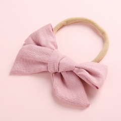 Simple Pure Color Handmade Girl's Cute Hair Rope Wholesale Deep leather pink