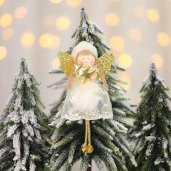 Lace Angel Christmas Pendant Christmas Tree Decoration Gold-Snow