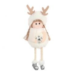 Plush Angel Cute Plush Doll Christmas Tree Decoration White-Snow