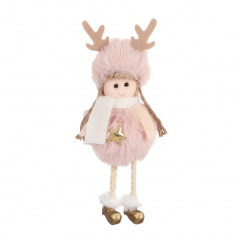 Plush Angel Cute Plush Doll Christmas Tree Decoration Pink-star