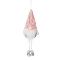 Faceless Santa Claus Doll Christmas Tree Decoration Pink