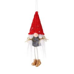 Faceless Santa Claus Doll Christmas Tree Decoration Red