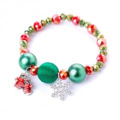 Christmas Series Santa Snowman Candy Beads Bracelet Snow