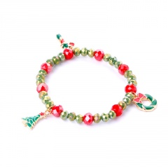 Christmas Series Santa Snowman Candy Beads Bracelet Tree