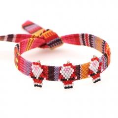Handmade Red Christmas Adjustable Bracelet Wholesale A