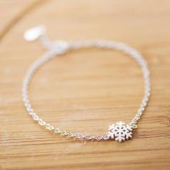 Silver Snow Chain Bracelet Christmas Jewelry Wholesale Snow