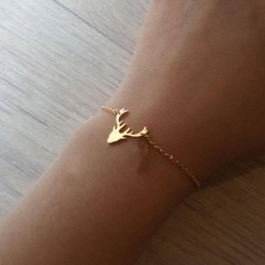 Gold Silver Elk Chain Bracelet for Women Christmas Jewelry Wholesale Gold