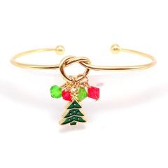 Christmas Tree Pendant Gold Open Bangle Wholesale Tree