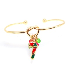 Christmas Tree Pendant Gold Open Bangle Wholesale Candy