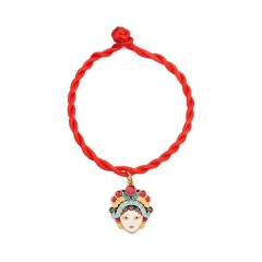Red Rope Christmas Series Dangle Adjustable Bracelet Wholesale Face