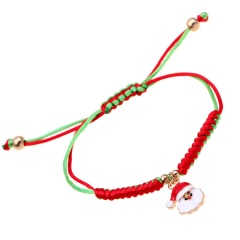 Green Red Rope Christmas Man Adjustable Bracelets Wholesale Snata Claus