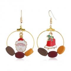Christmas Snow Pearl Elk Earring Jewelry Wholesale Bell