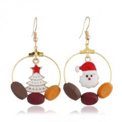 Christmas Snow Pearl Elk Earring Jewelry Wholesale Santa Claus