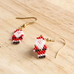 Rice Beads Hand-woven Santa Claus Earrings Santa Claus