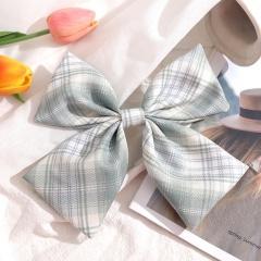 Girl's Simple Lattice Large Bow Hairpin Headwear Wholesale A