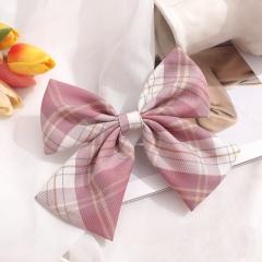 Girl's Simple Lattice Large Bow Hairpin Headwear Wholesale B