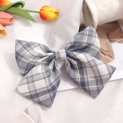 Girl's Simple Lattice Large Bow Hairpin Headwear Wholesale C