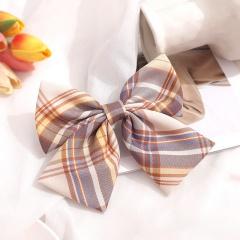 Girl's Simple Lattice Large Bow Hairpin Headwear Wholesale E