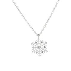 Retro Silver Santa Claus Pendant Chain Necklace Jewelry Wholesale Snow