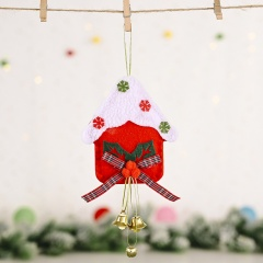 Christmas Red Flannel Bow Snowman Pendant Christmas Ornament Gift