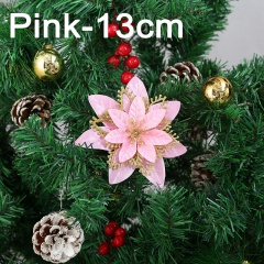 Multi-layer Three-dimensional Simulation Flower Christmas Tree Decoration Pink