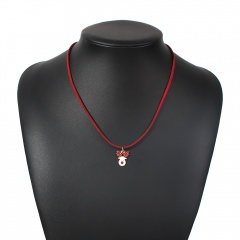 Red Rope Christmas Series Pendant Necklace Wholesale Elk
