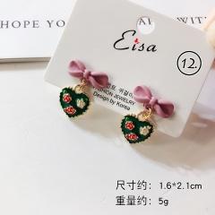 Green Series Flower Dangle Elegant Earring Jewelry Wholesale #12