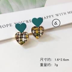 Green Series Flower Dangle Elegant Earring Jewelry Wholesale #6