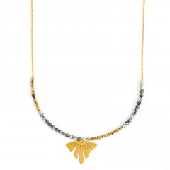 Gold Stainless Steel Chain Necklace for Women A