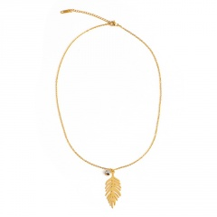 Gold Stainless Steel Chain Necklace for Women D