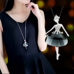Silver Pearl Sweater Long Necklace Wholesale Girl