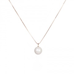 Fashion Silver Gold Pearl Pendant Long Chain Necklace Wholesale Gold