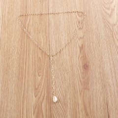 Silver Fashion Large Circle Chain Necklace Wholesale Shell