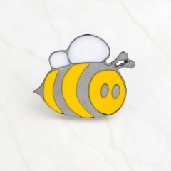 Yellow Cartoon Small Bee Scarf Pins Brooch A