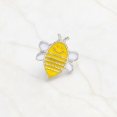 Yellow Cartoon Small Bee Scarf Pins Brooch C
