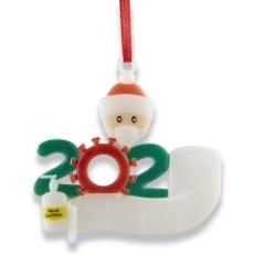 DIY Handwritten Name Face Mask Snowman Christmas Tree Ornament 1