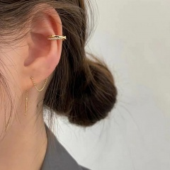 1 Piece Gold Diamond Flawer Chain Earring Wholesale Chain