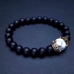 Natural Stone Bracelet Stretch Beads Bangle Fashion Jewellery Style 7