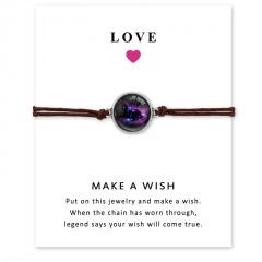 Love Star Time Gemstone Woven Card Bracelet Style 4