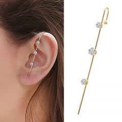 1 Piece Gold Copper Simple Stone Ear Earring Wholesale Gold