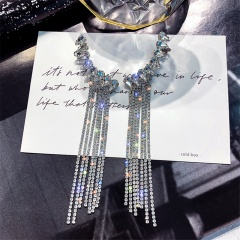 Large Shinning Beautiful Stud Earring Jewelry Wholesale Chain